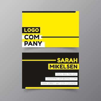 Visitekaartje neon ontwerp