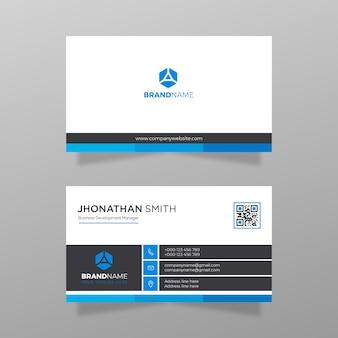 Visitekaartje ontwerp bedrijf en bedrijf vector witte en blauwe kleur modern