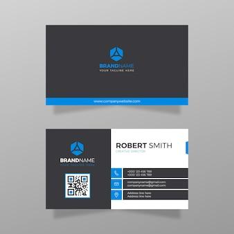 Visitekaartje ontwerp bedrijf en zakelijke vector witte en blauwe kleur