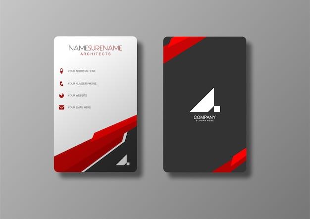 Visitekaartje rood en grijs