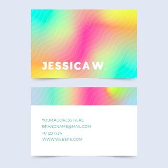 Visitekaartje sjabloon abstracte stijl