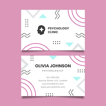 Visitekaartje van de psychologiekliniek