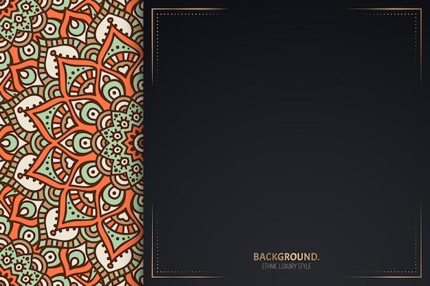 Visitekaartje. vintage decoratieve mandala. decoratieve kaartsjabloon.