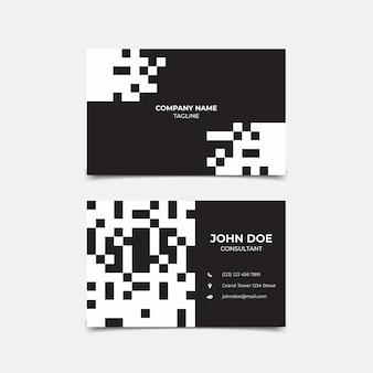 Visitekaartje zwart-wit concept