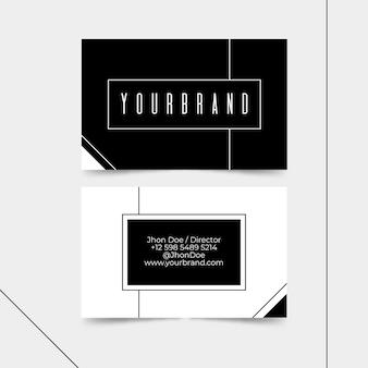 Visitekaartje zwart-wit thema