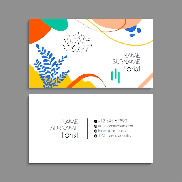 Visitekaartjes instellen. vector illustratie. eps10