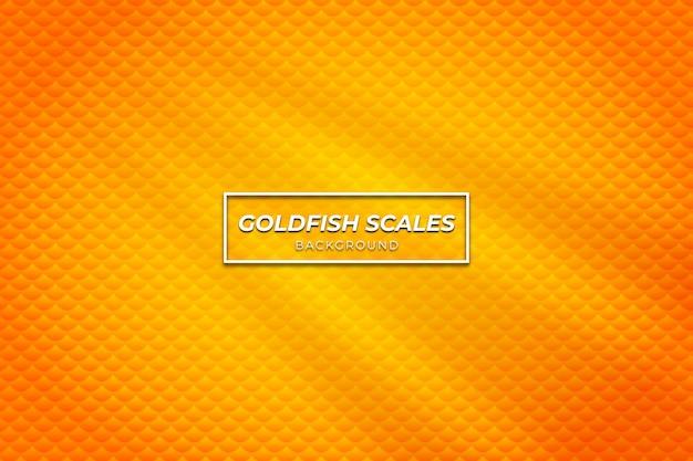 Visschubben achtergrond met oranje kleur