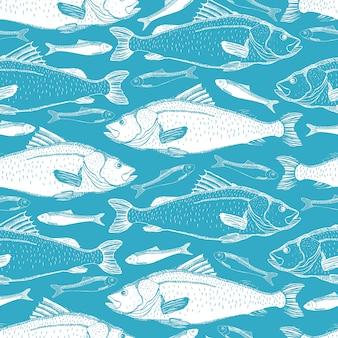 Vissen naadloze achtergrond