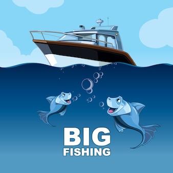 Vissen vanaf het jacht