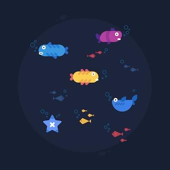 Vissen voor creatieve ontwerper