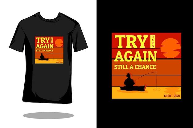 Visser citeert silhouet retro t-shirtontwerp