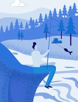Visser, visser op bos natuur achtergrond
