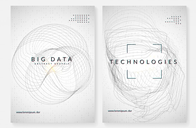 Visualisatie achtergrond. technologie voor big data, kunstmatig in