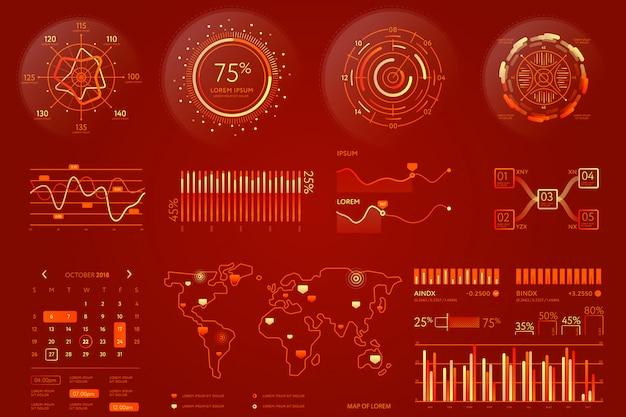 Visualisatie-element voor bedrijfsgegevens