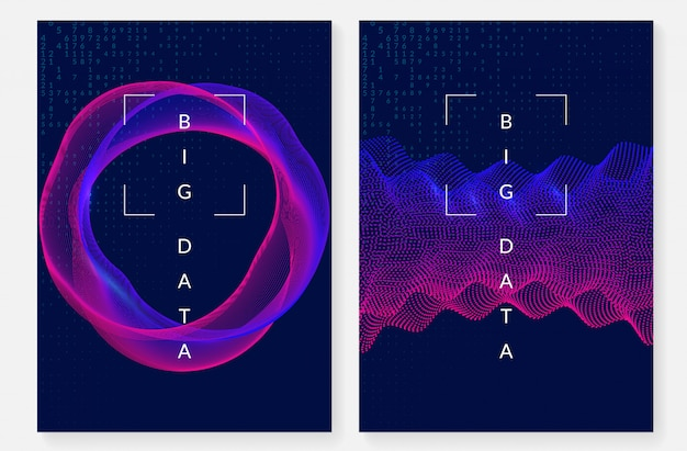 Visualisatie hoesontwerp. technologie voor big data