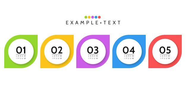Visualisatie van bedrijfsgegevens. procesgrafiek. abstracte grafiekelementen, diagram met stappen, opties. sjabloon voor presentatie. creatief concept voor infographic geïsoleerde illustratie.
