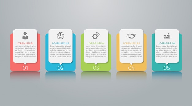 Visualisatie van bedrijfsgegevens. tijdlijn infographic sjabloon