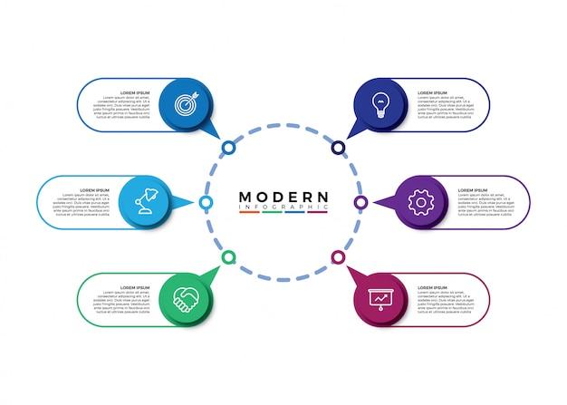 Visualisatie van bedrijfsgegevens, tijdlijn infographic
