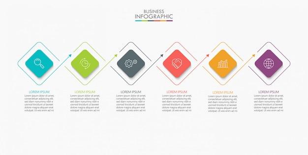 Visualisatie van bedrijfsgegevens. tijdlijn infographic
