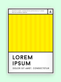 Visuele identiteit in trendy nieuwe vetlijnstijl geometrisch ontwerp in retrostijl met frisse oude schoolkleuren met fictieve namen en tekst