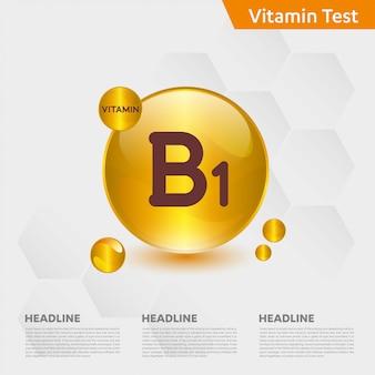 Vitamine b1 infographic sjabloon