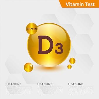 Vitamine d3 infographic sjabloon