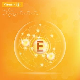 Vitamine e concept illustratie.