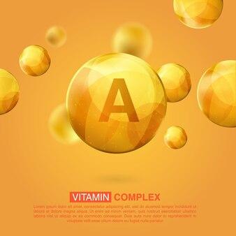 Vitamine goud pictogram. retinol vitamine drop pil capsule
