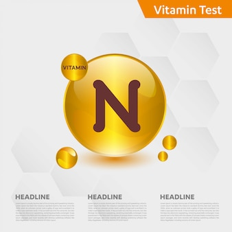 Vitamine n infographic sjabloon