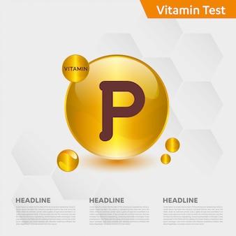 Vitamine p infographic sjabloon