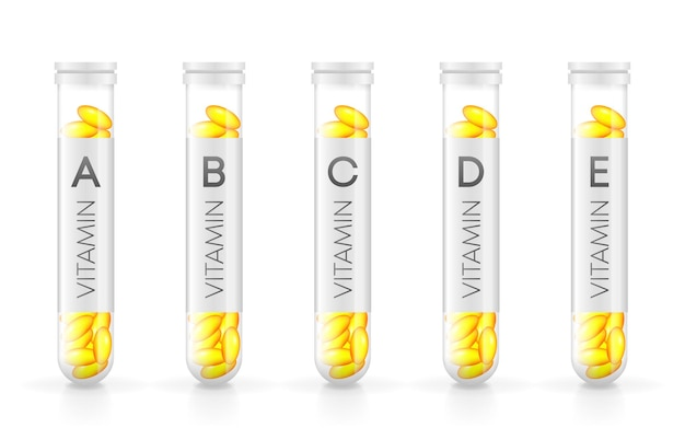 Vitamine realistische fles in 3d-stijl spray fles pictogram witte achtergrond geïsoleerde 3d-vector