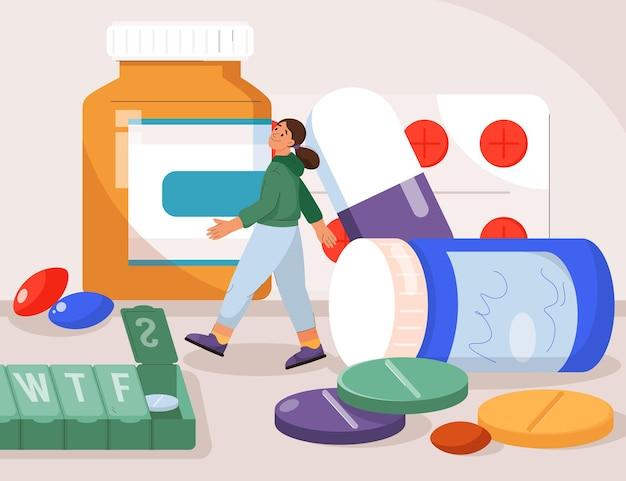 Vitaminen medicijnen in de farmacie en sportvoedingssupplementen