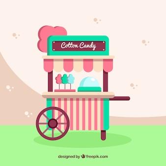 Vitnage katoen candy cart