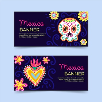 Viva mexico banners sjabloon