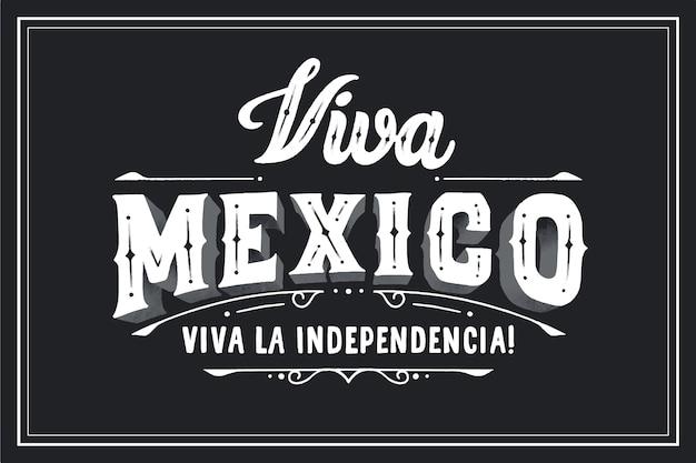 Viva mexico belettering op zwarte achtergrond