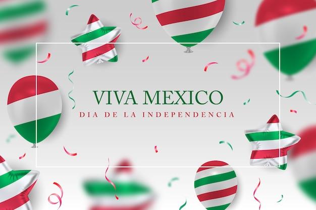 Viva mexico onafhankelijkheidsdag achtergrond met ballon