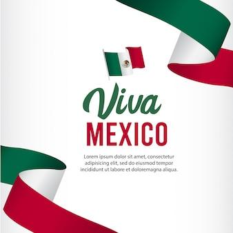 Viva mexico onafhankelijkheidsdag sjabloon.