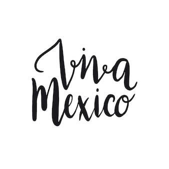 Viva mexico typografie stijl vector