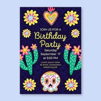 Viva mexico verjaardag uitnodiging sjabloon
