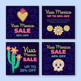 Viva mexico verkoop instagram postsjabloon