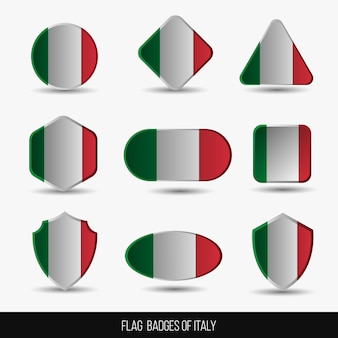 Vlag badges van italië