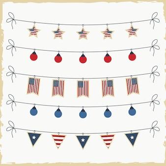 Vlag dag, onafhankelijkheidsdagontwerp element, vlaggenpatroon element van de vs.
