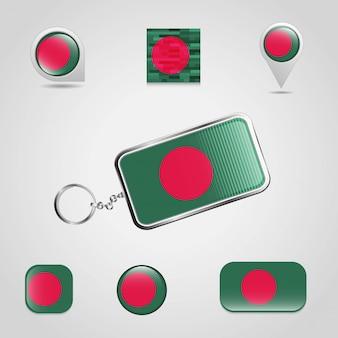 Vlag sleutelhanger ontwerp
