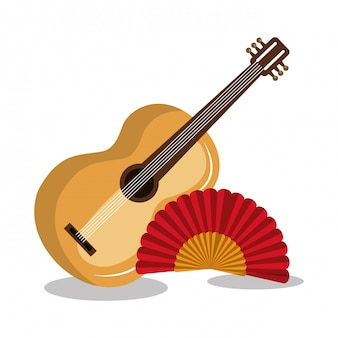 Vlag spanje muziek ontwerp