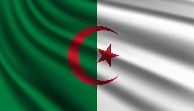 Vlag van algerije achtergrondsjabloon.