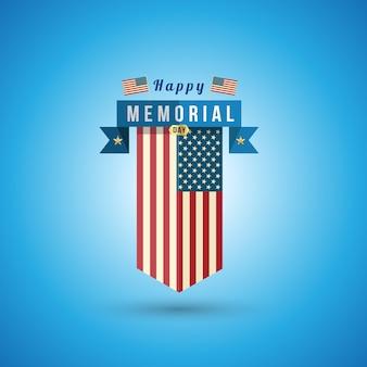 Vlag van amerika naar herdenkingsdag.