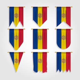 Vlag van andorra in verschillende vormen, vlag van andorra in verschillende vormen