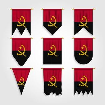 Vlag van angola in verschillende vormen, vlag van angola in verschillende vormen