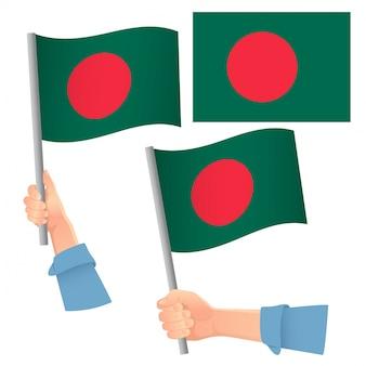 Vlag van bangladesh in de hand set