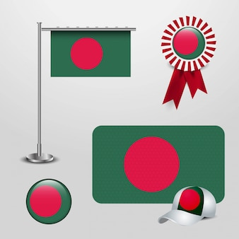 Vlag van bangladesh set